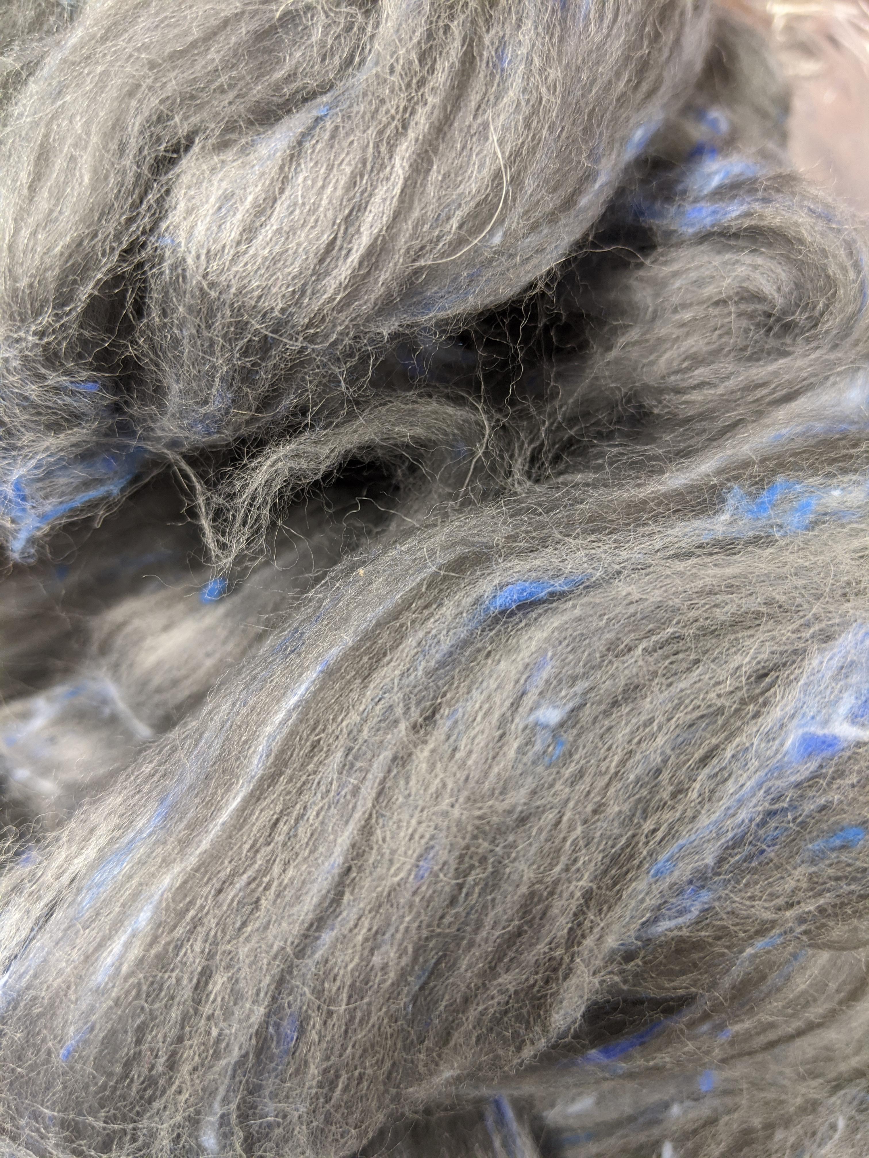 spinning fiber roving braid Fable MerinoBamboo tweed combed top 23 micron luxury fiber felting fiber spinning fiber tweed 4 ozs